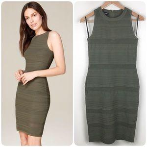 Bebe Multi-Texture Sweater Tank Dress Dusty Olive